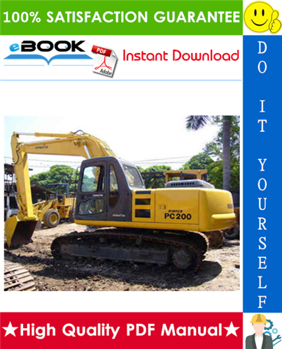 Thumbnail ☆☆ Best ☆☆ Komatsu PC200-5, PC200-5 Mighty, PC200LC-5, PC200LC-5 Mighty, PC220-5, PC220LC-5 Hydraulic Excavator Service Repair Manual (Serial Number: 45001 and up, 58019 an