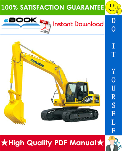 Thumbnail ☆☆ Best ☆☆ Komatsu HB205-1, HB215LC-1 Hydraulic Excavator Service Repair Manual (Serial Number: 1001 and up)