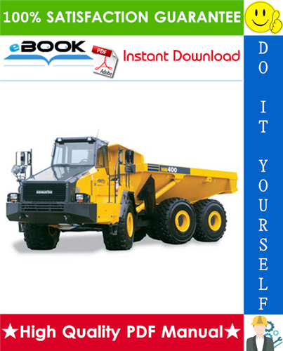 Thumbnail ☆☆ Best ☆☆ Komatsu HM400-3 Articulated Dump Truck Service Repair Manual (Serial Number: 3001 and up)
