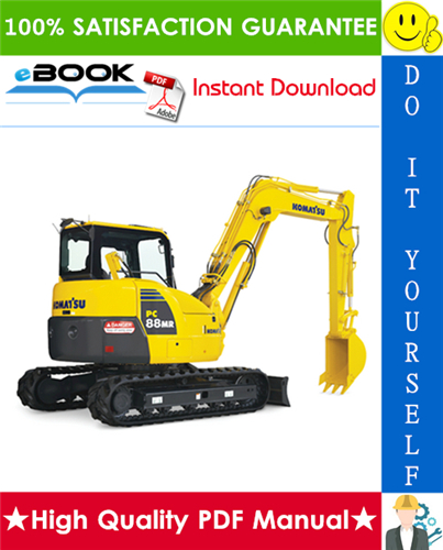 Thumbnail ☆☆ Best ☆☆ Komatsu PC88MR-10 Hydraulic Excavator Service Repair Manual (Serial Number: 7001 and up)