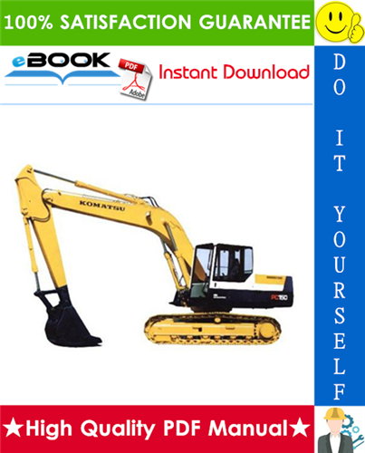 Thumbnail ☆☆ Best ☆☆ Komatsu PC150-3, PC150LC-3 Hydraulic Excavator Service Repair Manual (Serial Number: 3001 and up)