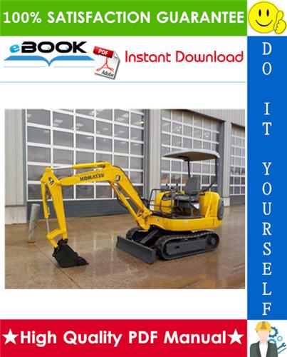 Thumbnail ☆☆ Best ☆☆ Komatsu PC20R-8, PC27R-8 Hydraulic Excavator Operation & Maintenance Manual