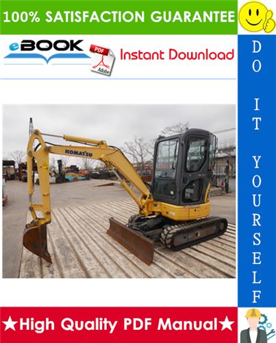Thumbnail ☆☆ Best ☆☆ Komatsu PC30MR-2, PC35MR-2 Galeo Hydraulic Excavator Operation & Maintenance Manual