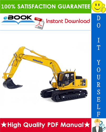 Thumbnail ☆☆ Best ☆☆ Komatsu PC210-8, PC210LC-8, PC210NLC-8, PC230NHD-8, PC240LC-8, PC240NLC-8 Hydraulic Excavator Operation & Maintenance Manual