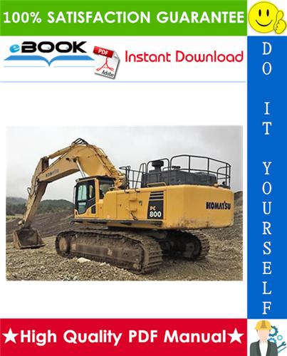 Thumbnail ☆☆ Best ☆☆ Komatsu PC800-8, PC850-8 Galeo Hydraulic Excavator Field Assembly Manual