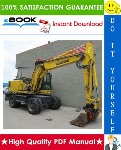 Thumbnail ☆☆ Best ☆☆ Komatsu PW130ES-6K Wheeled Excavator Service Repair Manual (Serial Number: K32001 and up, K34001 and up)