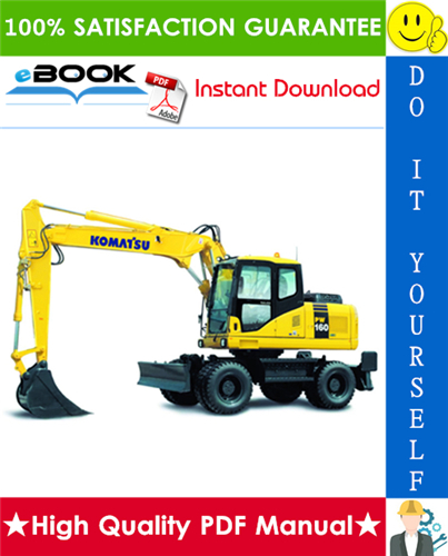 Thumbnail ☆☆ Best ☆☆ Komatsu PW160-7E0 Wheeled Excavator Service Repair Manual (Serial Number: H55051 and up)
