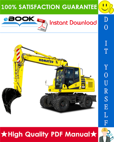Thumbnail ☆☆ Best ☆☆ Komatsu PW180-7E0 Wheeled Excavator Service Repair Manual (Serial Number: H55051 and up)