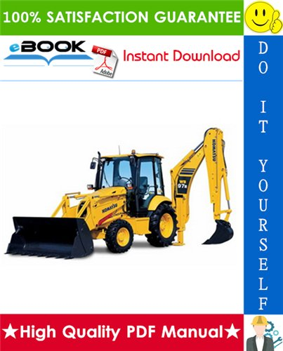 Thumbnail ☆☆ Best ☆☆ Komatsu WB97R-5 Backhoe-Loader Service Repair Manual (Serial Number: F50003 and up)
