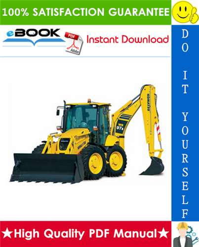 Thumbnail ☆☆ Best ☆☆ Komatsu WB97S-2 Backhoe-Loader Operation & Maintenance Manual (Serial Number: 97SF11205 and up)