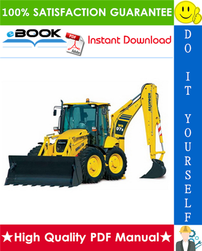Thumbnail ☆☆ Best ☆☆ Komatsu WB97S-5 Backhoe-Loader Service Repair Manual (Serial Number: F00003 and up)
