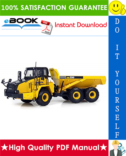 Thumbnail ☆☆ Best ☆☆ Komatsu HM250-2 Articulated Dump Truck Operation & Maintenance Manual (Serial Number: 2001 and up)