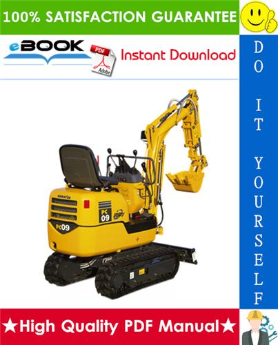 Thumbnail ☆☆ Best ☆☆ Komatsu PC09-1 Hydraulic Excavator Operation & Maintenance Manual (Serial Number: 14277 and up)