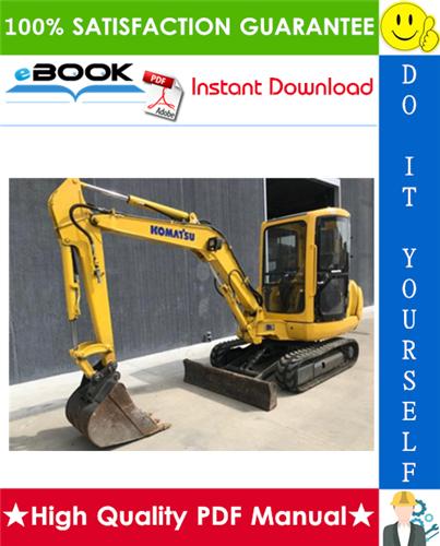 Thumbnail ☆☆ Best ☆☆ Komatsu PC35R-8, PC45R-8 Hydraulic Excavator Operation & Maintenance Manual