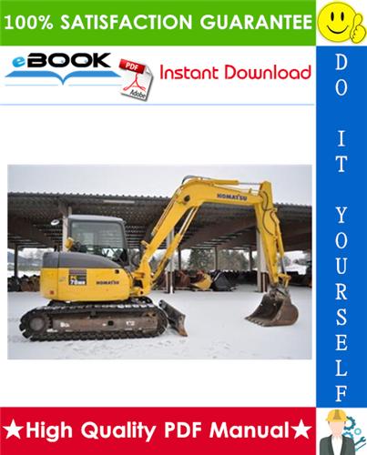 Thumbnail ☆☆ Best ☆☆ Komatsu PC78MR-6 Hydraulic Excavator Operation & Maintenance Manual (Serial Number: 4001 and up)