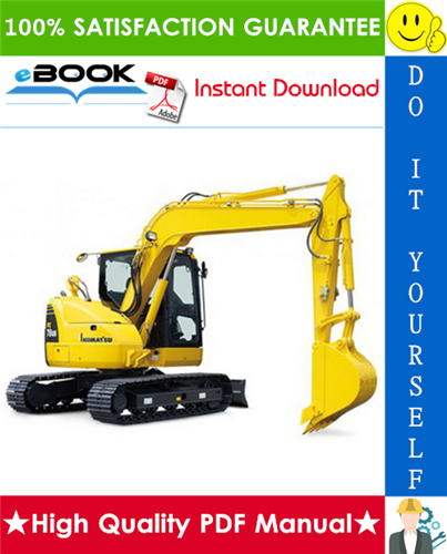 Thumbnail ☆☆ Best ☆☆ Komatsu PC78US-8 Hydraulic Excavator Operation & Maintenance Manual (Serial Number: 16029 and up)