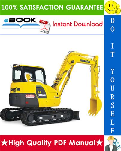 Thumbnail ☆☆ Best ☆☆ Komatsu PC88MR-8 Hydraulic Excavator Operation & Maintenance Manual (Serial Number: 5450 and up)
