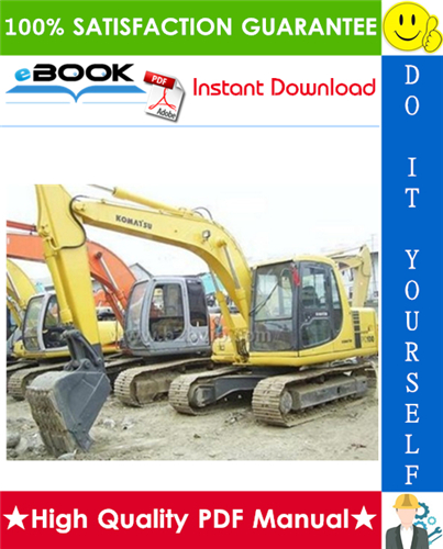 Thumbnail ☆☆ Best ☆☆ Komatsu PC100-5, PC120-5, PC120-5 Mighty Hydraulic Excavator Service Repair Manual