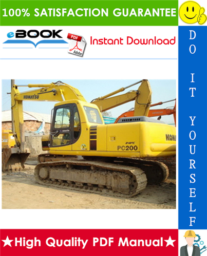 Thumbnail ☆☆ Best ☆☆ Komatsu PC200-7, PC200LC-7 Hydraulic Excavator Operation & Maintenance Manual (Serial Number: C70001 and up)