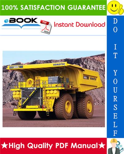 Thumbnail ☆☆ Best ☆☆ Komatsu 960E-2K Dump Truck Field Assembly Manual (Serial Number: A50011 & UP)
