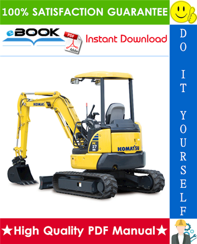 Thumbnail ☆☆ Best ☆☆ Komatsu PC27MR-3, PC35MR-3 Hydraulic Excavator Operation & Maintenance Manual (Serial Number: 20501 and up, 16501 and up)