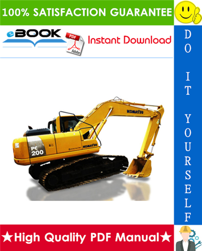 Thumbnail ☆☆ Best ☆☆ Komatsu PC200-8, PC200LC-8, PC220-8, PC220LC-8 Hydraulic Excavator Operation & Maintenance Manual (Serial Number: 315312 and up, 80361 and up)
