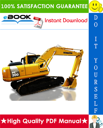 Thumbnail ☆☆ Best ☆☆ Komatsu PC200-8, PC200LC-8, PC220-8, PC220LC-8 Hydraulic Excavator Operation & Maintenance Manual (Serial Number: 350001 and up, 85001 and up)