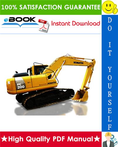 Thumbnail ☆☆ Best ☆☆ Komatsu PC200-8, PC200LC-8, PC240LC-8 Hydraulic Excavator Operation & Maintenance Manual