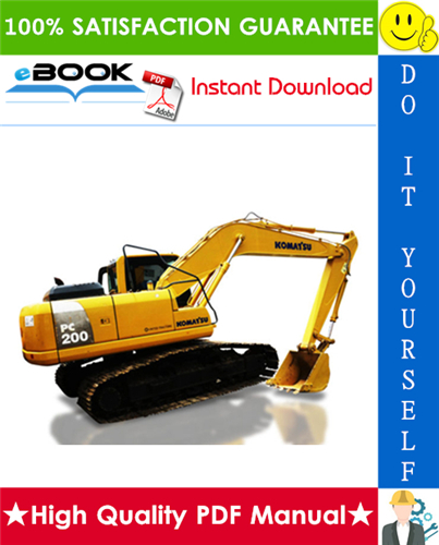 Thumbnail ☆☆ Best ☆☆ Komatsu PC200-8, PC200LC-8, PC240LC-8 Hydraulic Excavator Service Repair Manual