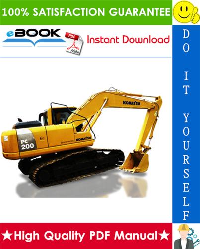Thumbnail ☆☆ Best ☆☆ Komatsu PC200-8E0 (Hybrid), PC200LC-8E0 (Hybrid) Hydraulic Excavator Service Repair Manual