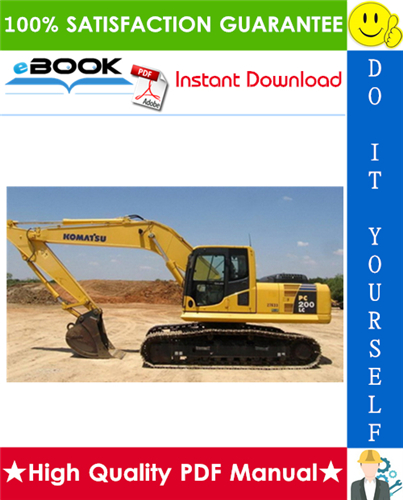 Thumbnail ☆☆ Best ☆☆ Komatsu PC200LC-8 Hydraulic Excavator Service Repair Manual (Serial Number: A90301 and up)
