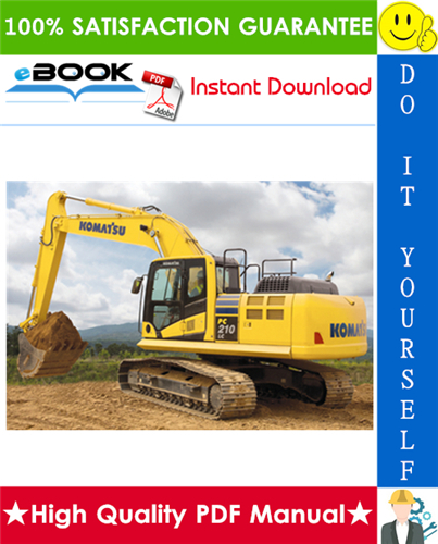 Thumbnail ☆☆ Best ☆☆ Komatsu PC210LC-10 Hydraulic Excavator Operation & Maintenance Manual (Serial Number: 450001 and up)