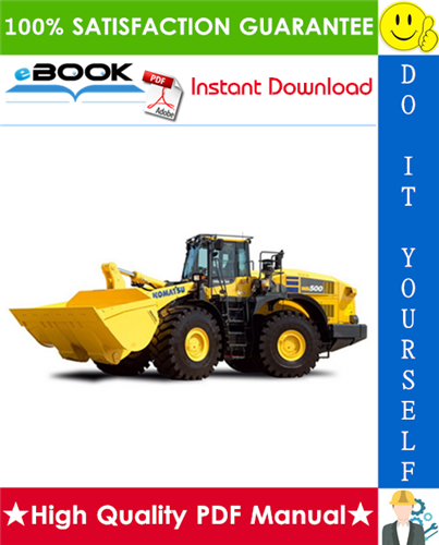 Thumbnail ☆☆ Best ☆☆ Komatsu WA500-6 Wheel Loader Operation & Maintenance Manual (Serial Number: 55450 and up)