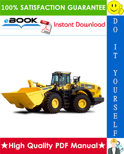 Thumbnail ☆☆ Best ☆☆ Komatsu WA500-6 Wheel Loader Operation & Maintenance Manual (Serial Number: 55529 and up)
