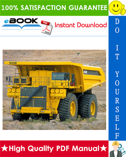 Thumbnail ☆☆ Best ☆☆ Komatsu 930E-2 Dump Truck Service Repair Manual + Operation & Maintenance Manual + Field Assembly Manual