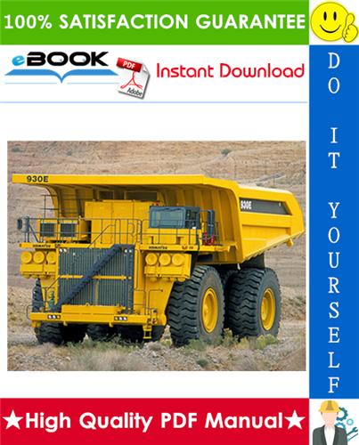 Thumbnail ☆☆ Best ☆☆ Komatsu 930E-4 Dump Truck Service Repair Manual + Operation & Maintenance Manual + Field Assembly Manual #2