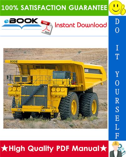 Thumbnail ☆☆ Best ☆☆ Komatsu 930E-4SE Dump Truck Service Repair Manual + Operation & Maintenance Manual + Field Assembly Manual #2