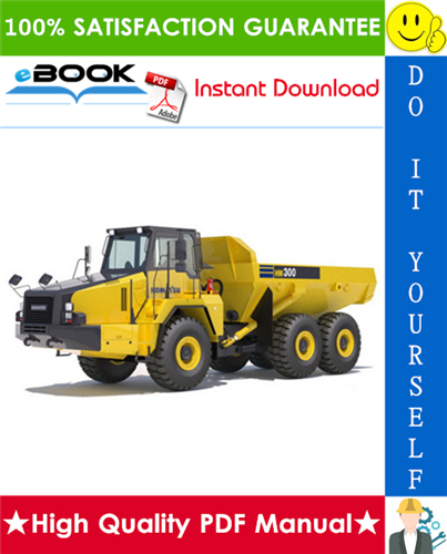 Thumbnail ☆☆ Best ☆☆ Komatsu HM300-1 Articulated Dump Truck Service Repair Manual + Field Assembly Manual + Operation & Maintenance Manual (Serial Number: 1001 and up)