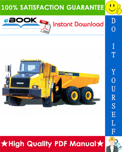 Thumbnail ☆☆ Best ☆☆ Komatsu HM350-1 Articulated Dump Truck Service Repair Manual + Field Assembly Manual + Operation & Maintenance Manual (Serial Number: 1001 and up)