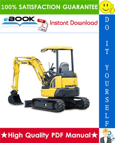 Thumbnail ☆☆ Best ☆☆ Komatsu PC27MR-3, PC30MR-3, PC35MR-3 Hydraulic Excavator Service Repair Manual + Operation & Maintenance Manual