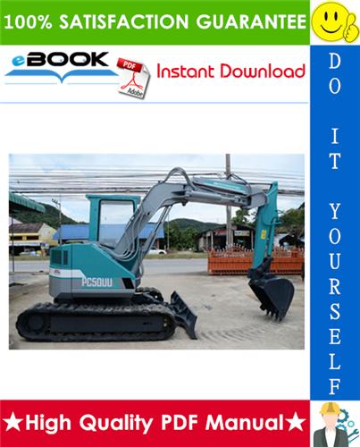 Thumbnail ☆☆ Best ☆☆ Komatsu PC50UU-2 Hydraulic Excavator Service Repair Manual + Operation & Maintenance Manual (Serial Number: 8001 and up)