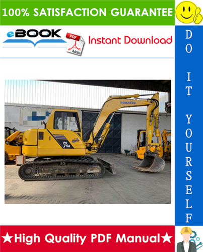 Thumbnail ☆☆ Best ☆☆ Komatsu PC75R-2 Hydraulic Excavator Service Repair Manual + Operation & Maintenance Manual (Serial Number: 22E5200001 and up, 22E5200763 and up)