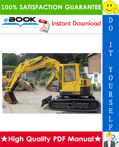Thumbnail ☆☆ Best ☆☆ Komatsu PC75UU-2 Hydraulic Excavator Service Repair Manual + Operation & Maintenance Manual (Serial Number: 5001 and up)