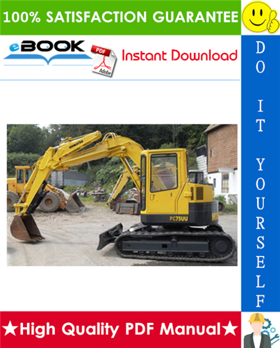Thumbnail ☆☆ Best ☆☆ Komatsu PC75UU-3 Hydraulic Excavator Service Repair Manual + Operation & Maintenance Manual (Serial Number: 15001 and up)