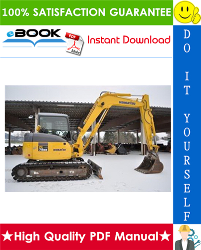 Thumbnail ☆☆ Best ☆☆ Komatsu PC78MR-6 Hydraulic Excavator Service Repair Manual + Operation & Maintenance Manual (Serial Number: 1001 and up)