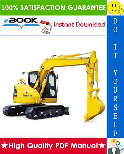 Thumbnail ☆☆ Best ☆☆ Komatsu PC78US-8 Hydraulic Excavator Service Repair Manual + Operation & Maintenance Manual (Serial Number: 15001 and up)