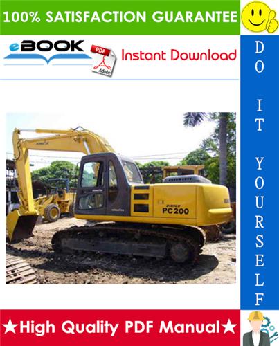Thumbnail ☆☆ Best ☆☆ Komatsu PC200-6, PC200LC-6, PC220-6, PC220LC-6 Hydraulic Excavator Service Repair Manual + Operation & Maintenance Manual