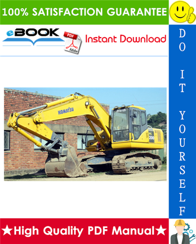 Thumbnail ☆☆ Best ☆☆ Komatsu PC200-7, PC200LC-7, PC220-7, PC220LC-7 Hydraulic Excavator Service Repair Manual + Operation & Maintenance Manual