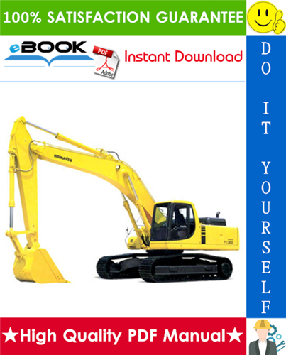 Thumbnail ☆☆ Best ☆☆ Komatsu PC300-7, PC300LC-7, PC350-7, PC350LC-7 Hydraulic Excavator Service Repair Manual + Operation & Maintenance Manual