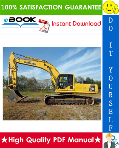 Thumbnail ☆☆ Best ☆☆ Komatsu PC300LC-6, PC300HD-6 Hydraulic Excavator Service Repair Manual + Operation & Maintenance Manual (Serial Number: A80001 and up, A83001 and up)